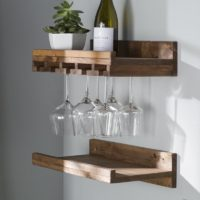 Keep Your Wine Collection With Wood Wall Wine Rack